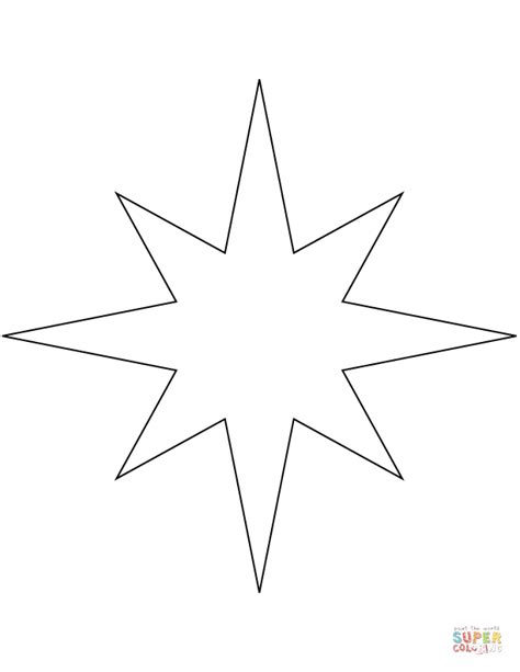 free coloring page compass rose 8 points star compass rose coloring page free