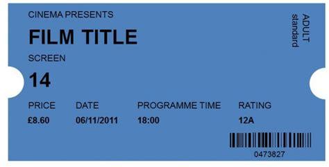 cinema ticket template word 40 free editable raffle ticket templates