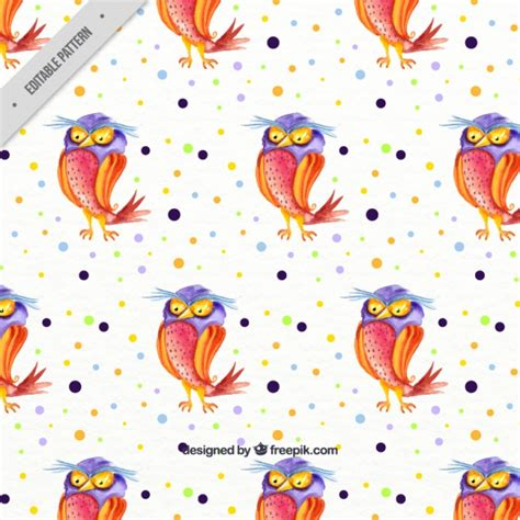 owl pattern vector free download watercolor hallowen pattern with owl vector free download