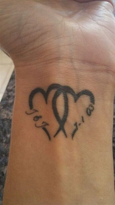 date tattoos designs our initials and wedding date ideas