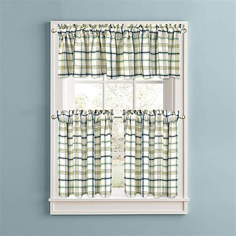 plaid kitchen curtains valances bistro plaid kitchen window curtain tiers and valance