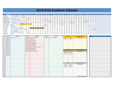 excel calendar template 2015 search results for free printable academic calendars 2015