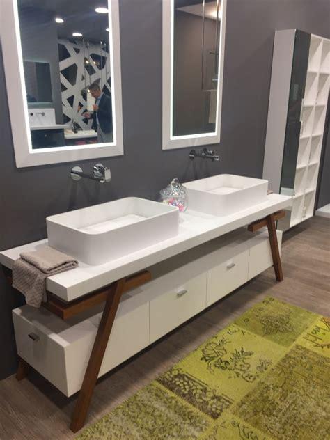 lovely Small Space Bathroom Vanity #2: Wood-frames-double-vanity-design.jpg
