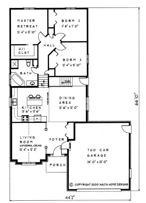 Back Split House Plans by 3 Bedroom Backsplit House Plan Bs119 1505 Sq