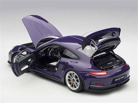 Diecast Porsche Gt3 Rs porsche 911 991 gt3 rs in ultraviolet by autoart