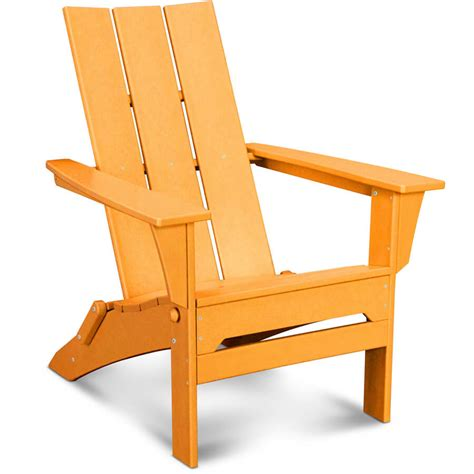 Foldable Adirondack Chair by Polywood Modern Trio Folding Adirondack Chair Mna110 Lays