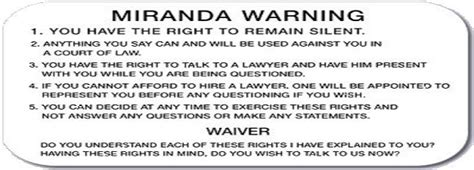 printable rights card miranda rights card www pixshark com images galleries