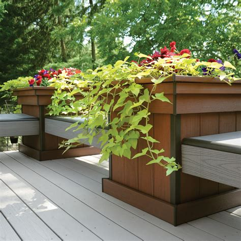 azek bench azek bench tahoe azek planter redland rose azek deck