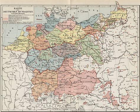 deutsche mappe karte der deutschen mundarten zeno org