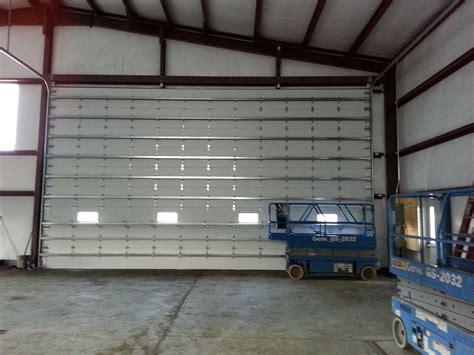 insulated commercial garage doors commercial garage doors hendershot door systems inc