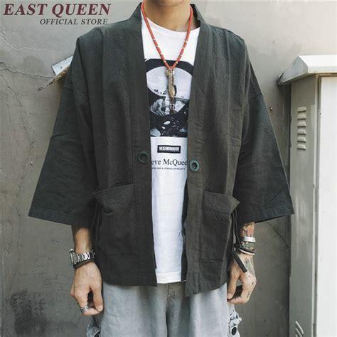 Denim Jaket Black Pria Cowok traditional japanese mens clothing mens yukata japan kimono kk1011 y in asia pacific