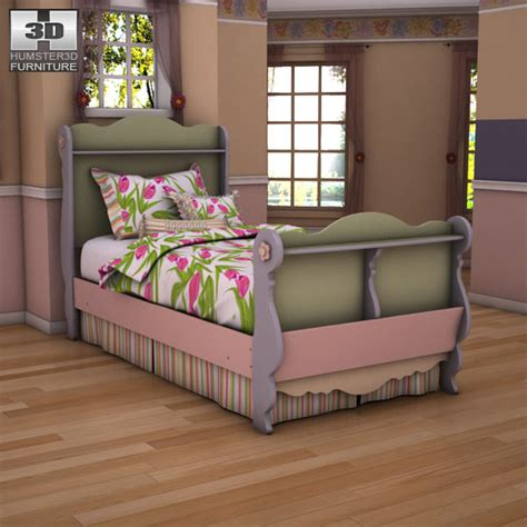 doll house sleigh bed ashley doll house twin sleigh bed 3d model humster3d