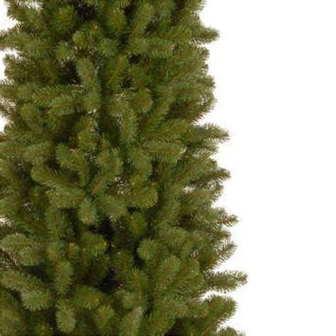 home depot real christmas trees home accents 7 ft feel real downswept douglas slim artificial tree pedd1 527