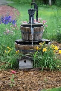 whiskey barrel idea landscape garden