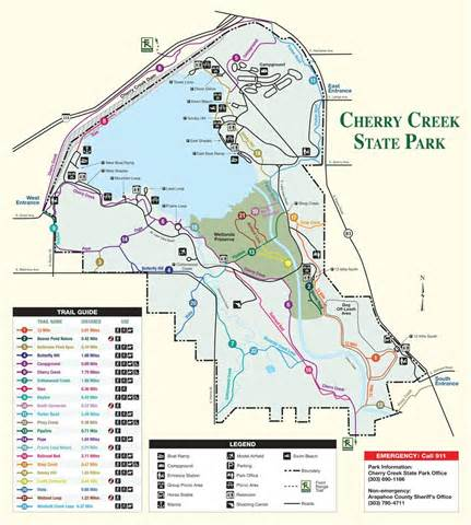 Cherry Creek State Park Map cherry creek state park maplets