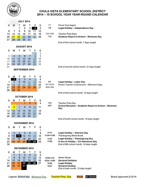 15 Year Calendar Calendar 2014 2015 Liberty Elementary