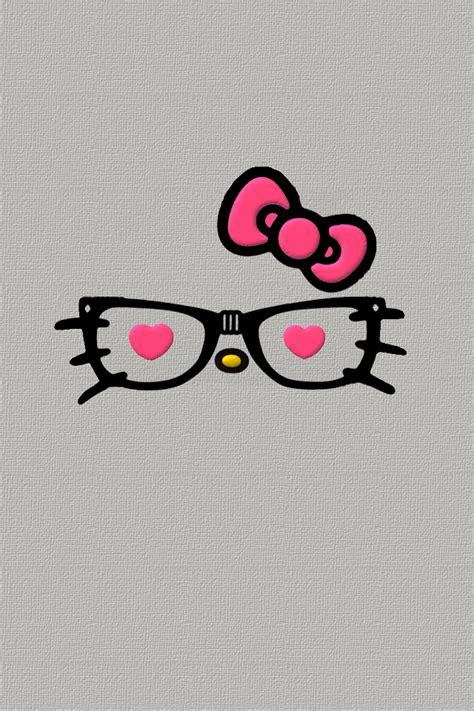 hello kitty with glasses wallpaper nerd hello kitty wallpaper wallpapersafari