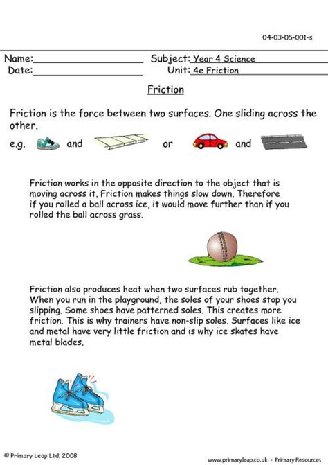 Friction Worksheet by Friction Worksheet Free Worksheets Library And