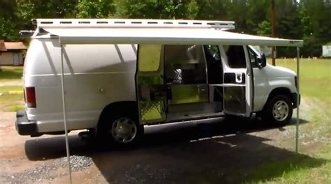awning van plain looking cer van hides a custom interior