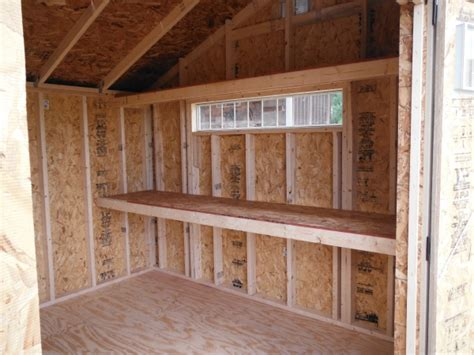 shed shelving ideas shed specialty options mainus construction waterford wisconsin