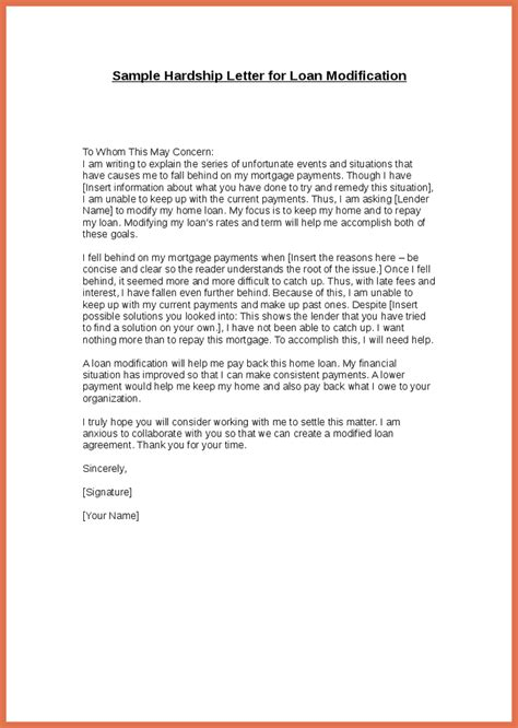hardship letter for loan modification awesome sle hardship letter for loan modification