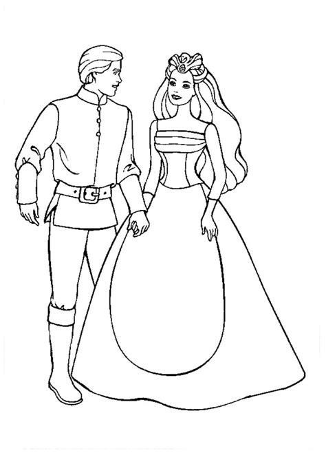 coloring pages swan princess desenho de e o pr 237 ncipe daniel conversando para