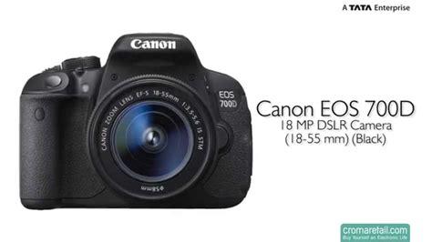 canon eos 700d canon eos 700d 18 mp dslr 18 55 mm black