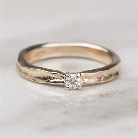 thumbelina solid gold engagement ring by alison
