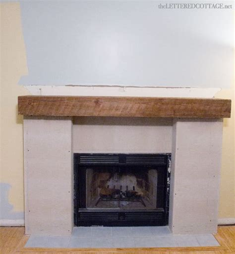 fireplace makeover rustic diy redo 1085 ideas