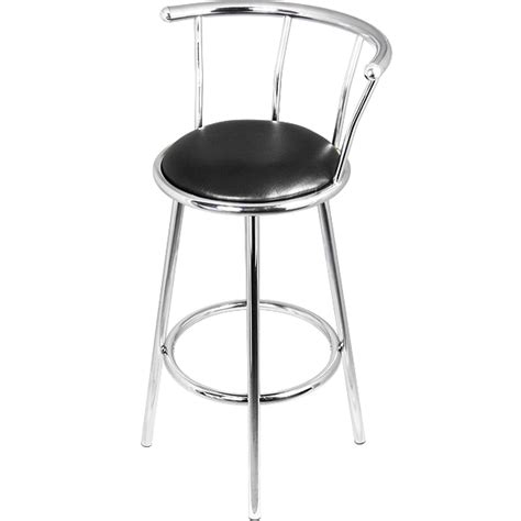 chrome bar stools with back chrome swivel bar stools barmans co uk