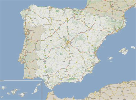 map of spain and portugal large detailed roads map of spain and portugal vidiani maps of all countries in one place