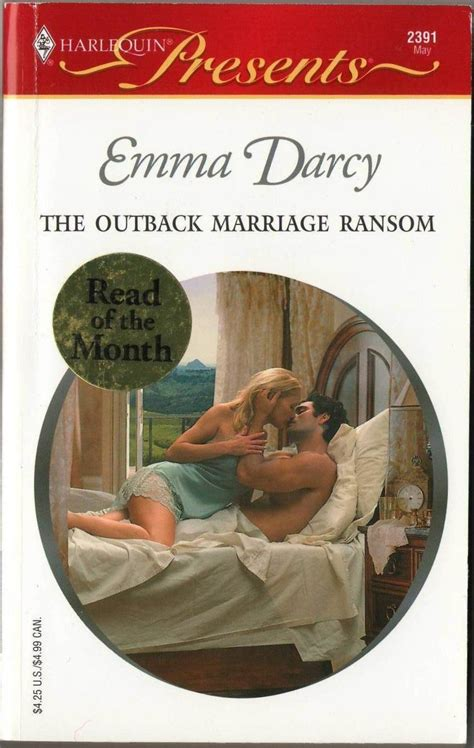 Novel Harlequin Darcy the outback marriage ransom by darcy harlequin presents novel book 0373123914