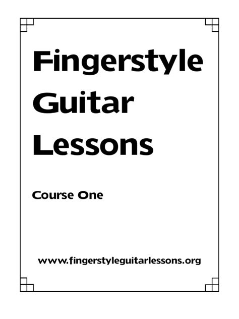 guitar tutorial ebook fingerstyle guitar lessons course book pdf