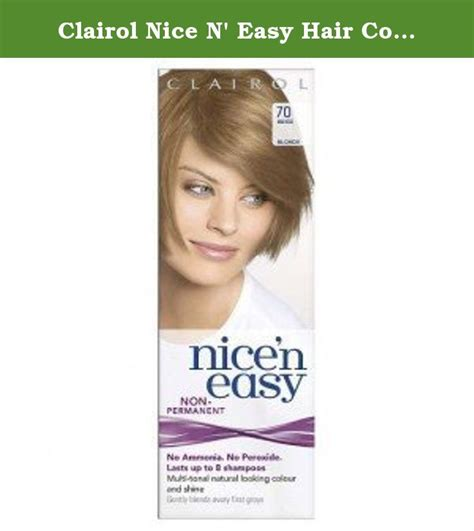 How To Use Nice N Easy Hair Color | clairol nice n easy hair color 70 beige blonde pack of