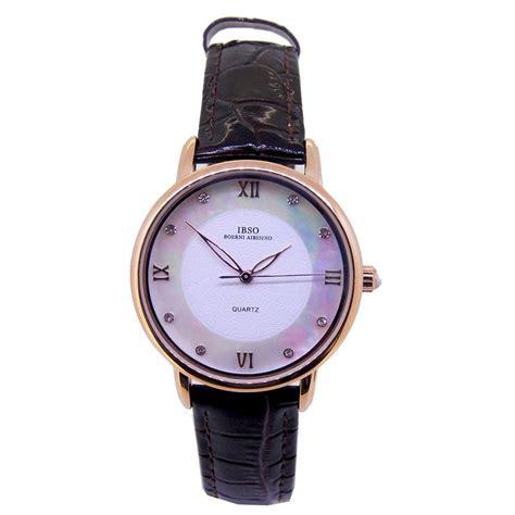wanita jamtangan analog ibso jam tangan analog wanita n7491 2 black white