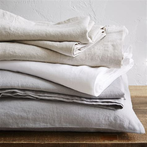 bed linen belgian flax linen sheet set west elm au