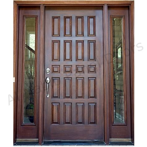 Mission Style Homes by Dayar Wooden Front Door Hpd458 Solid Wood Doors Al