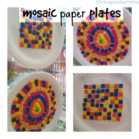 Paper Mosaic Crafts - mosaic paper plate 101 things to do with