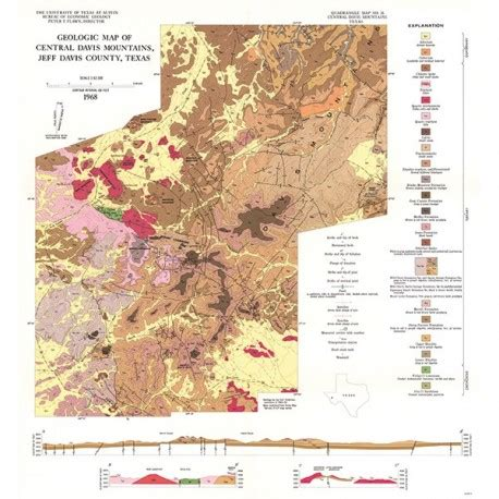 davis mountains texas map gq0036 igneous geology of the central davis mountains jeff davis county texas the bureau store