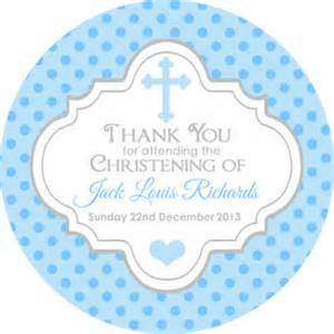 Baptism Memory Box Polka Dots Cross Blue Christening Baptism Celebration Gift Favour Stickers Invitation Seals