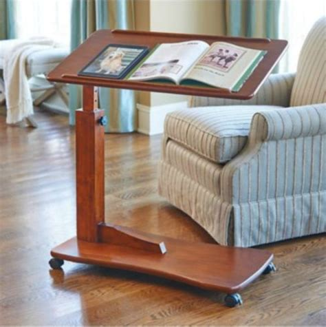 bedside laptop desk walnut bedside rolling work table hospital bed tray laptop