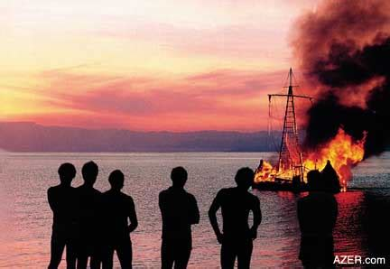 burn the boats story 11 1 25 years ago heyerdahl burns quot tigris quot reed ship to