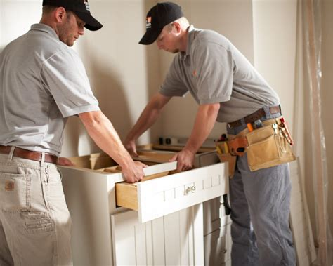 cabinet installation repair at the home depot