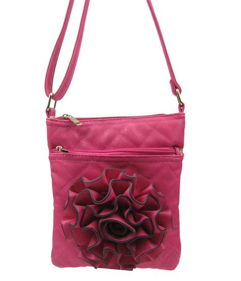 Cheap Quilted Bags by Sh820 Wholesale Quilted 3d Flower Crossbody Bags