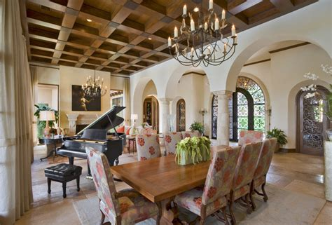 Mediterranean Dining Room by Seven Oaks Showcase Mediterranean Dining Room