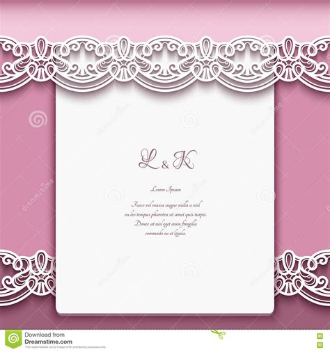 greeting card borders templates vintage paper background with lace borders stock vector