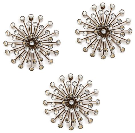 Stratton home decor gold burst wall decor set of 3 view in your room houzz