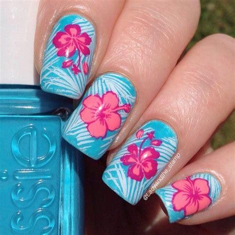 hawaiian nail art ideas  pinterest hawaiian