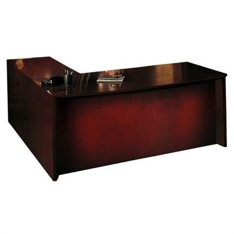 mayline corsica 72 quot l shape bow front executive computer desk