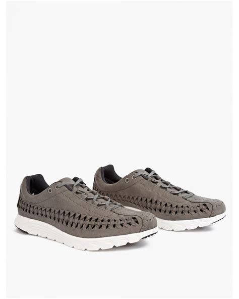 mayfly sneakers nike grey mayfly woven sneakers in gray for lyst